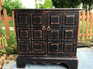 Black, Copper, Wine Bar, Painted TV Cabinet, Jackson MI