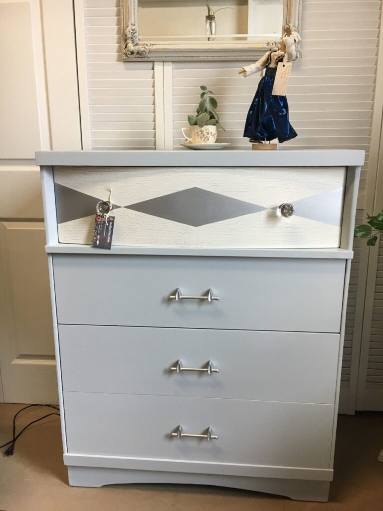 Mid-century Modern, Silver, Dresser, Jackson MI