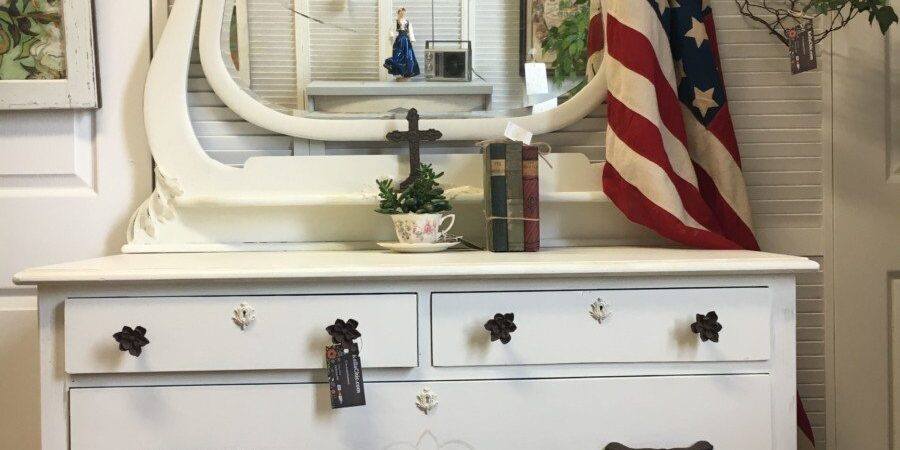 Beige, Western, Rustic, Painted Furniture, Dresser, Jackson MI
