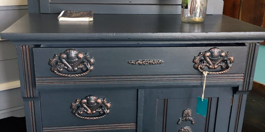 Painted Antique Washstand Commode Jackson MI