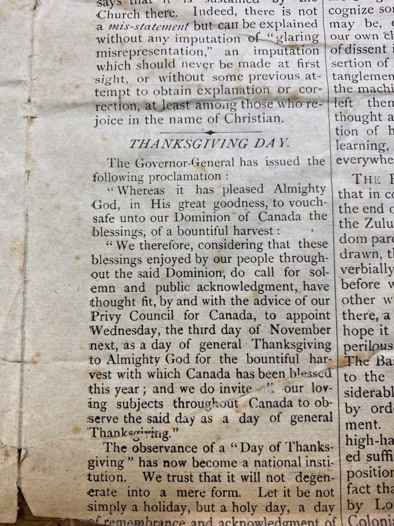 Canadian Independant Newspaper Clipping 1880's