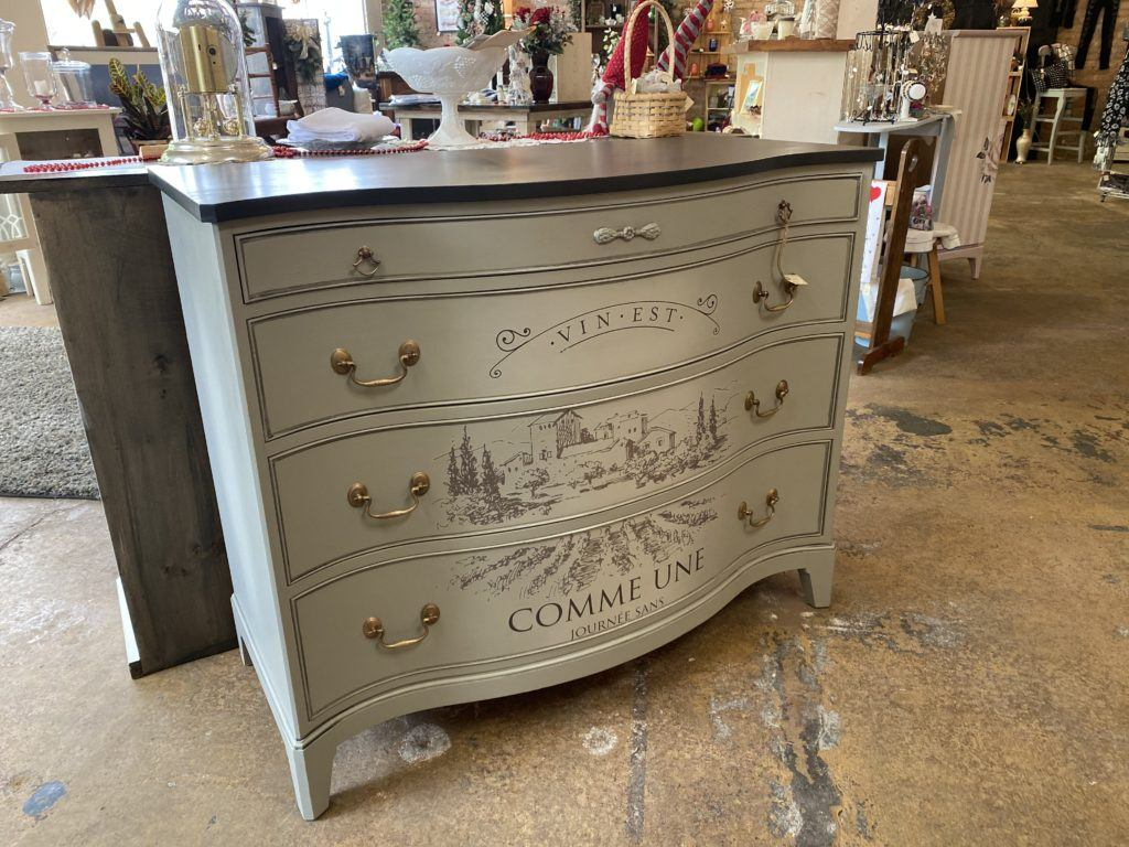 painted duncan fife buffet dressesr transfer