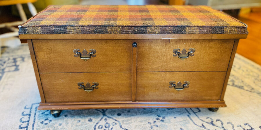 Painted Upcycle Cedar Chest - Twin Size